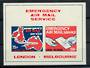 GREAT BRITAIN 1971 Emergency Mail miniature sheet. - 20387 - UHM