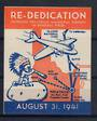 USA 1941 Rededication of the Pocatello Municipal Airport. Label in fine never hinged condition. - 20394 - Cinderellas