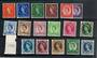 GREAT BRITAIN 1955 Elizabeth 2nd Definitive set of 17. (missing the second 2d value). - 20408 - Mint