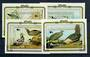 PENRHYN 1985 Birth Bicentenary of John J Audubon. Set of 4 miniature sheets. - 20420 - UHM