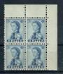 FIJI 1959 Elizabeth 2nd Definitive 1d Deep Ultramarine. Corner Bkock of 4. - 20450 - UHM