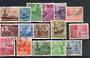 NORTH BORNEO 1950 Geo 6th Definitives. Set of 16, including both spellings of the 50c. - 20458 - VFU