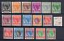 PENANG 1954 Elizabeth 2nd Definitives. Set of 16. - 20467 - LHM
