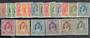 JORDAN 1943 Definitives. Set of 14. and 1947 changes of colour. Set of 6. Mostly mint never hinged including the high values. -