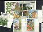 GABON 1997 set of 4 and of 2 miniature sheets. Orchids  other flowers insects and butterflies. - 20492 - UHM