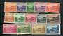 NORFOLK ISLAND 1947 Definitive Set of 14. Reasonable condition especially the 3d Green and 2/- Blue. - 20508 - Mint