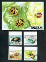 TOKELAU ISLANDS 1998 Beetles. Set of 4 and miniature sheet. - 20557 - CTO
