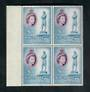 SINGAPORE 1955 Elizabeth 2nd Definitive $1 Blue and Purple. Block of 4. Available alternately as a single. - 20593 - UHM