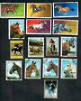 WORLD Selection of 15 stamps. Thematic HORSES. - 20596