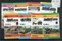 TUVALU 1984 Leaders of the World. Railway Locomotives. Second series. Set of 16 in joined pairs. - 20614 - UHM
