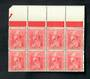NEW ZEALAND 1926 1d Admiral. Block of 8. Only 5 stamps meet the criteria. - 20617 - UHM