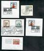 MUSIC Selection of five different special postmarks. Austria and Czechoslovakia. - 20632 - Postmark