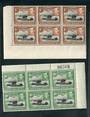 KENYA UGANDA TANGANYIKA 1952 Royal Visit. Set of 2 in corner blocks of 6. - 20762 - UHM