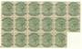 NATAL 1882 Victoria 1st Definitive ½d Dull Green. Block of 17. - 20784 - UHM