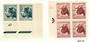 SOUTH AFRICA 1954 Definitive ½d Deep Blue-Green Plate 67 corner pair and 1d Brown-Lake Block of 4 identied as 3A. - 20792 - UHM