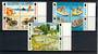 JERSEY 2001 Standard Postage Issue. Set of 12 in Blocks of 4. - 20821 - FU