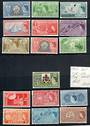 BERMUDA 1953 Elizabeth 2nd Definitives. 15 values in unhinged mint condition. Missing the 8d and 9d. The 1d is hinged. - 20884 -