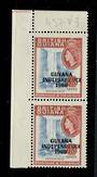 GUYANA 1967 Independence overprint 48c Kaieteur Falls. Variety on the same stamp listed in the old Elizabethan catalogue under t