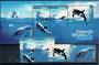 AUSTRALIAN ANTARCTIC TERRITORY 1995 Whales and Dolphins. Set of 4 and miniature sheet. - 20906 - CTO
