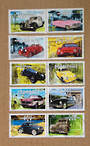 FRANCE 2000 Philexjeunes 2000 International Youth Stamp Exhibition. Vintage Cars. Set of 10 in joined pairs. - 20957 - FU