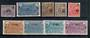 FRENCH GUIANA 1924 Surcharges. Set of 9. - 20969 - Mint