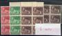 NEW ZEALAND 1956 Health. Set of 3 plus the Deep Sepia shade (cv $12.50). - 20979 - UHM