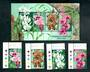 SINGAPORE 1998 Joint issue with Australia. Orchids. Set of 4 and miniature sheet. - 21006 - UHM