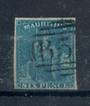 MAURITIUS 1859-61. 6d blue with four clear margins. A sound stamp. - 21012 - FU