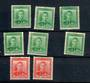NEW ZEALAND 1938 Geo 6th Definitive ½d in three colours Green Yellow-Green and Blue-Green and the 1d Second Fine Paper in the sa