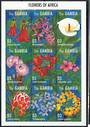 GAMBIA 1995 Flowers of Africa. Miniature sheet. - 21056 - UHM