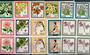 NIUE 1969 Definitives Flowers. Set of 10 in blocks of 4. - 21067 - UHM