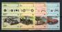 NANUMAGA 1985 Automobiles. Third series. Set of 8 in joined pairs. - 21086 - UHM