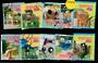 NEW ZEALAND 1997 Wacky Letterboxs. Set of 10. Cut out from the first day cover. - 21130 - CTO