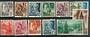 FRENCH OCCUPATION OF GERMANY BADEN 1947 Definitives. Set of 13. - 21173 - UHM