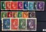 NETHERLANDS 1940 definitives set of 14 to 50c and 1946 high values to 10g. - 21243 - FU