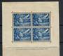 NETHERLANDS 1942 Legion Fund 12½c+87½c Blue in miniature sheet. Some toning. - 21275 - Mint