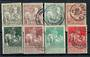 BELGIUM 1910 Brussels Exhibition. Set of 8. - 21277 - Used