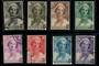 BELGIUM 1935 Death of Queen Astrid. Set of 8. - 21278 - VFU