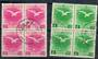 MANCHUKUO 1940 Visit of Emperor. Blocks of four. - 21324 - FU