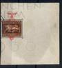 GERMANY 1937 Brown Ribbon of Germany. The miniature sheet of 1936 overprinted in red as described in the SG listing. This is at