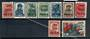 GERMAN OCCUPATION OF LITHUANIA 1941 Russian Definitives overprinted in Black. Set of 9. Telschen 26/6/1941. Unofficial issue not