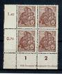 EAST GERMANY 1953 Definitive 70pf Brown. Nice corner block of 4. - 21388 - UHM