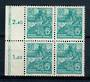EAST GERMANY 1953 Definitive 60pf Bright Blue. Nice block of 4. - 21391 - UHM