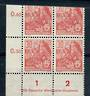 EAST GERMANY 1953 Definitive 30pf  Brown-Red. Nice corner block of 4. - 21392 - UHM