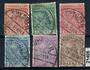 ALBANIA 1913 Definitives. Set of six. Nice postmarks SHKODER. - 21406 - FU