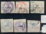 ALBANIA 1913 Handstamped issue on laid paper. Set of six. - 21410 - FU