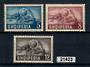 ALBANIA 1950 UPU. Set of three. VLHM. - 21423 - LHM