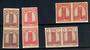 FRENCH MOROCCO 1943 Definitives. 4 values in imperf pairs. - 21443 - UHM