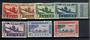 FRENCH GUINEA 1942 Air Definitives. Set of 7. - 21449 - Mint