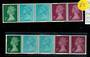 GREAT BRITAIN 1971 Machins Coil Strip of 5. - 21463 - UHM